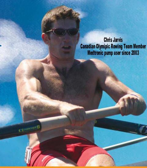 Canadian Olympic Rower Chris Jarvis has Diabetes and must monitor diet carefully.