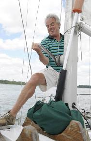 Sailing demands upper body and core strength.