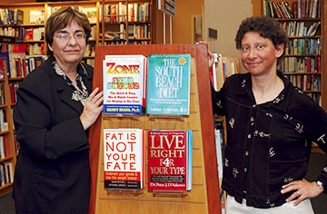 Judy Stern, left, and Linda Bacon found that overweight people can make significant improvements without ever stepping on the scales. (Debbie Aldridge/UC Davis photo)