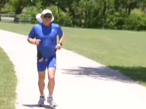 George Amundson started running when he was 36, and never stopped. He's nearly 70 now, and getting set to compete in the Ironman World Championship trathlon in Hawaii. The Texan will be one of only 200 athletes to run, swim and bike their way through a course that stretches more than 130 miles.