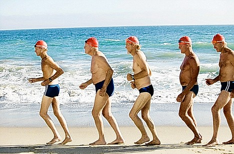 Elderly men exercising