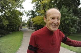 "Harry Klessen, 76, started running when he was 48 and gradually expanded into biking and swimming. He's done 10 half-marathons and seven triathlons since he started. ""I rode from Sioux Falls to Rapid City when I turned 60 years old,"" he says."
